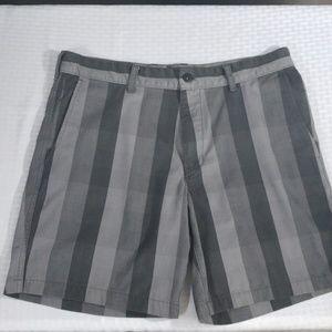North Face gray plaid shorts 34R